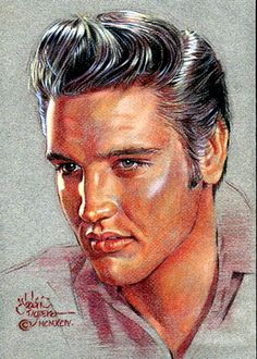 """THE KING"" { Elvis Aaron Presley ~ January 8, 1935 – August 16, 1977 } by ~AbdonJRomero on deviantART"