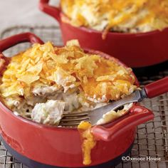 Gooseberry Patch Recipes: Crispy Pecan-Chicken Casserole. We love the crunchy, cheesy potato chip topping on this creamy casserole!