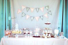 Winter One-Derland Birthday Party Dessert Table