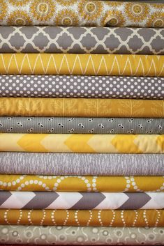 mustard and grey living room colors Living Room Grey, Living Room Decor, Living Room Ideas Grey And Yellow, No Sew Curtains, Curtain Fabric, Spare Room, Grey Yellow, Yellow Rug, Colour Schemes