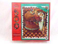 James C Christensen Olde World Santa Christmas Corkboard Jigsaw Puzzle 500 Pc #Ceaco