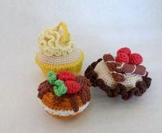 crochet cakes  set of 3 play food crochet food от CrochetByLjuba