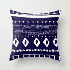 Cloud Nine Creative - Navy Aztec Cushion