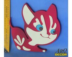 Bordowy Kotek - Dekoracje Do Przedszkola, Pokój Dziecięcy (NA ZAMÓWIENIE) 02 - ARQ - DECOR | Pracowania Dekoracji ARQ DECOR