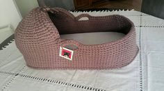 Baby Moses Basket  Baby Bassinet Crocheted  Moses by cookieletta