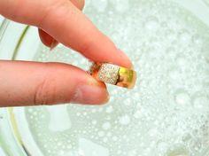 Как почистить золото в растворе