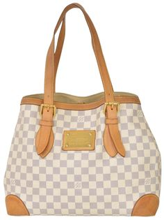 Louis Vuitton Damier Azur Hampstead Mm Checkered White Tote Bag. Get one of the hottest styles of the season! The Louis Vuitton Damier Azur Hampstead Mm Checkered White Tote Bag is a top 10 member favorite on Tradesy. Save on yours before they're sold out!
