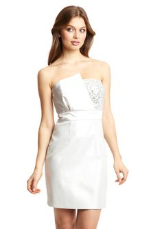LAUNDRY BY SHELLI SEGAL Strapless Fold Detail Cocktail Dress