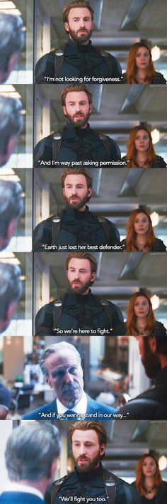 Such a proud moment! You tell him, Cap!! 👊🏻