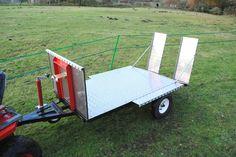 1 Axle Low-Loader TRAILER for ATV, Quad Bike, TRACTOR, Ride on MOWER, Car, Van | eBay