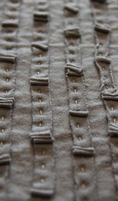 sweetpeapath:        Hand stitching on Ruffled Tied Wrap        from Alabama Chanin        New Collection, 2011