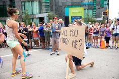 Marriage Proposal at SeaWheeze 2013 Half-Marathon Finish Line