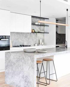 Home Decor Kitchen, Kitchen Interior, Kitchen Dining, Kitchen Island, Kitchen Ideas, Grey Kitchens, Cool Kitchens, Bespoke Kitchens, Beautiful Interior Design