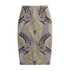 J.Crew no. 2 paisley pencil skirt