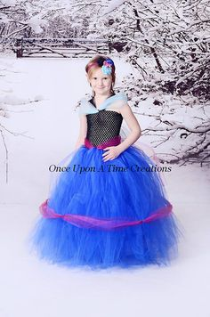 Anna Inspired Frozen Princess Tutu Dress - Birthday Outfit, Photo Prop, Halloween Costume - 12M 2T 3T 4T 5T 6 7 8 10 12 - Disney Inspired