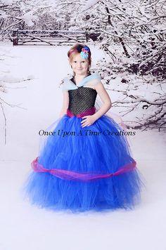Anna inspirado congelados princesa vestido tutú - traje de cumpleaños, Foto Prop, disfraces de Halloween - 12M 2T 3T 4T 5T 6 7 8 10 12 - Disney inspirados