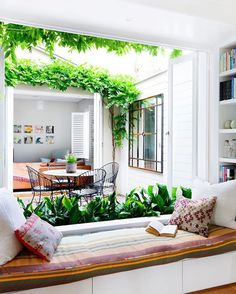Eye-Opening Unique Ideas: Natural Home Decor Living Room Interior Design simple natural home decor window.Natural Home Decor Modern White Kitchens natural home decor bedroom beach houses.Natural Home Decor Diy Tree Branches. Internal Courtyard, Courtyard House, Courtyard Ideas, Atrium Ideas, Indoor Courtyard, Design Seeds, Natural Home Decor, Kitchen Living, Room Kitchen