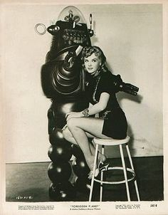 Forbidden Planet Robby the Robot 1956 Science Fiction Cult Movie Posters Anne Francis Photos Science Fiction, Fiction Movies, Sci Fi Movies, Pulp Fiction, Robots Vintage, Retro Robot, Space Odyssey, Planet Movie, Retro Futurism