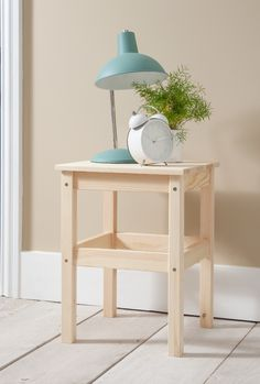 Bring a touch of sophistication into any room with our classic side table. Made from solid pine this simple and elegant side table is ideal as a bedside table in your little one's room. #bedside #kidsroom #kidsbedroomideas Solid Pine, Bedroom Storage, Kidsroom, Bedside, Kids Bedroom, Storage Spaces, Bedroom Furniture, Touch, Elegant