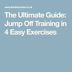 The Ultimate Guide: Jump Off Training in 4 Easy Exercises