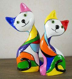 Cute papier mache cats