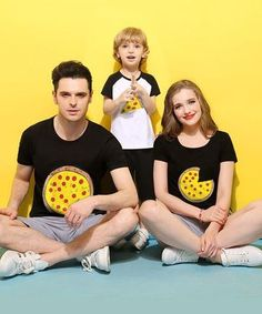 Pizza Matching Family T-Shirts – Cece Match Matching Family T Shirts, Pizza, Swimwear, Cotton, Kids, Clothes, Fashion, Bathing Suits, Young Children