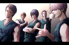 Kirisaki Daiichi - Furuhashi Kojirou, Yamazaki Hiroshi, Hanamiya Makoto, Seto Kentarou, Hara Kazuya. I am proud to say that I know all of their names lol~