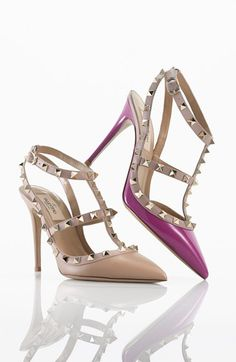 Valentino 'Rockstud' T-Strap Pump http://rstyle.me/n/jwh7rr9te