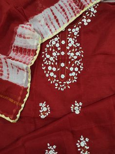 Instagram 9, Kurta Designs Women, Festival Wear, Shibori, New Dress, Hand Embroidery, Red And White, Applique, Girl Outfits