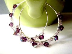 Grape Sugar Candy Earrings  #handmade  #thecraftstar  $19.00