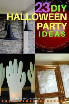 Bath Tub Rings and Artsy Things - 23 Amazing DIY Halloween Party Ideas