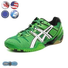 Asics Gel Blast 4 is the flagship ASICS indoor court shoe. Designed and engineered to provide high performance within the demanding coniditions confronting the serious court athlete.  Suitable for squash and badminton as well as other indoor court activities like volleyball.  Bright green color.