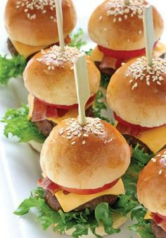 Mini Hamburgers – The perfect bite-sized appetizer or dinner for your little ones.