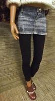 Lorifina mini jean skirt with black leggings for the retired Hasbro Lorifina dolls.