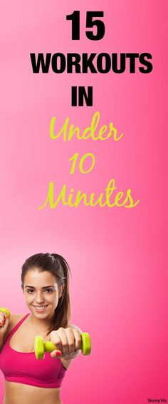 Target any problem areas with these 15 different workouts--all finished in under 10 minutes. #fitness
