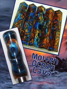 Molten Ocean Lava by AngelsHeavenlyDesign on Etsy, $25.00