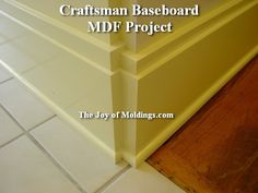 craftsman+style+base+moulding | ... -board-diy-molding-project-craftsman-baseboard | The Joy of Moldings