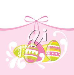 iCLIPART - Easter eggs illustration