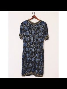 Vintage Avalon Floral Silk Beaded Dress from damsel in distressed