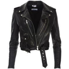 Leather Moto Jacket Vintage Black (7 060 PLN) ❤ liked on Polyvore featuring outerwear, jackets, tops, coats & jackets, coats, genuine leather biker jacket, vintage biker jacket, rider jacket, leather motorcycle jacket and leather moto jackets