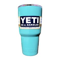 Tiffany Blue Powder Coated Yeti 30oz Double Wall Stainless Steel Cup Tumbler