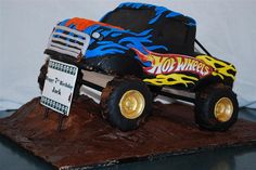 I have a brother who is a little devil but the only thing that makes him happy is monster trucks do come on I need ideas so please follow me and I will follow u if u pin monster truck cakes I need ideas so help me plese