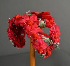 Vintage 1950s Hat 50s Hat fascinator floral by NodtoModvintage