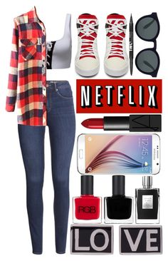 """""""My daily look"""" by ginga-ninja ❤ liked on Polyvore featuring Samsung, NARS Cosmetics, H&M, Puma, WithChic, RGB and Givenchy"""