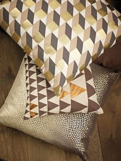 Retro cushions, Pfister Cushions, Pillows, Retro, Louis Vuitton Damier, Quilts, Blanket, Pattern, Golden Age, Inspiration