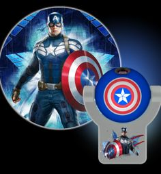 Projectables marvel captain america night light product shot