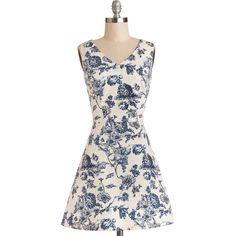 ModCloth Short Sleeveless A-line Avid Antiquer Dress