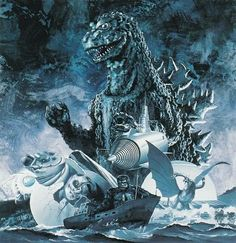 Godzilla art by Yuji Kaida