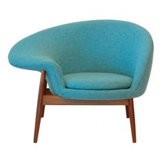 ecofirstart - The Egg Chair in the manner by Hans Olsen, Blue - A simple asymmetrical 'Fried Egg' Chair, in upholstery with a generous right arm and solid teak dowel leg frame. upholstery can be customed. Although Olsen was a student of Kaare Klint at the Royal Danish Academy's Furniture School from 1941 to 1943, he belongs to a group of Danish furniture designers who chose to experiment with both form and materials. In 1953, he set up his own studio where he designed and produced a series…