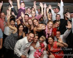 End of the night Wedding Party Photo with DJ Mike Obara
